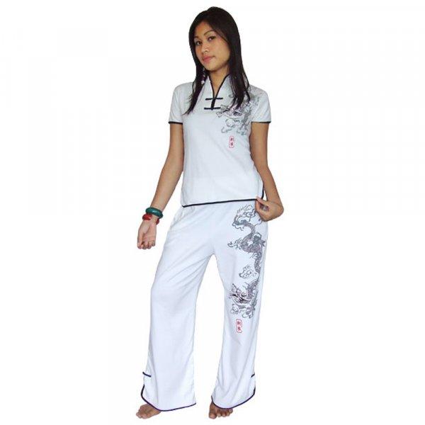 Asia Damen Hausanzug Weiß