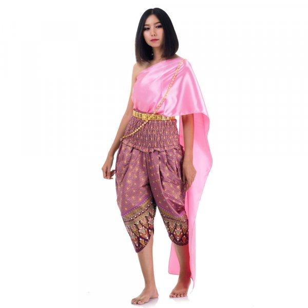 Traditionelles Thai Kostüm Rosa