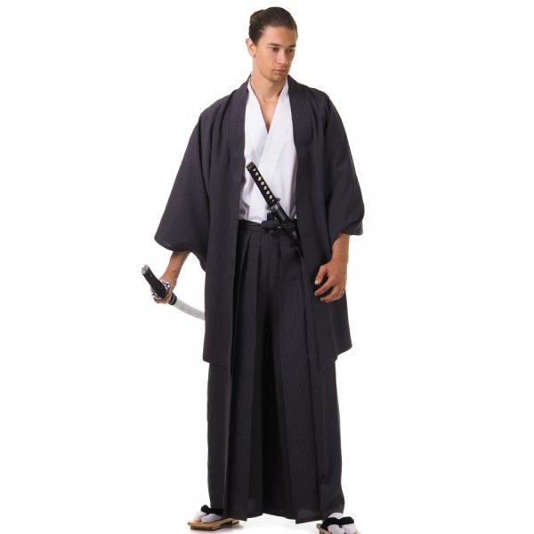 Japan Samurai Kimono Set Schwarz Weiß