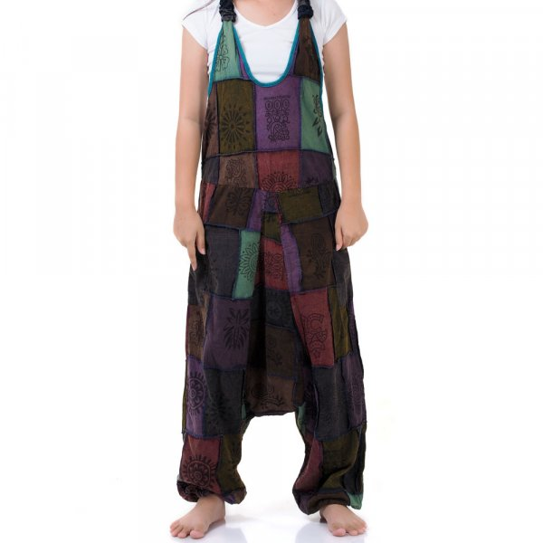 Patchwork Jeans Overall Spirit of Om