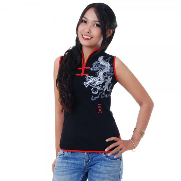Asia Tai Chi Yoga Shirt Schwarz