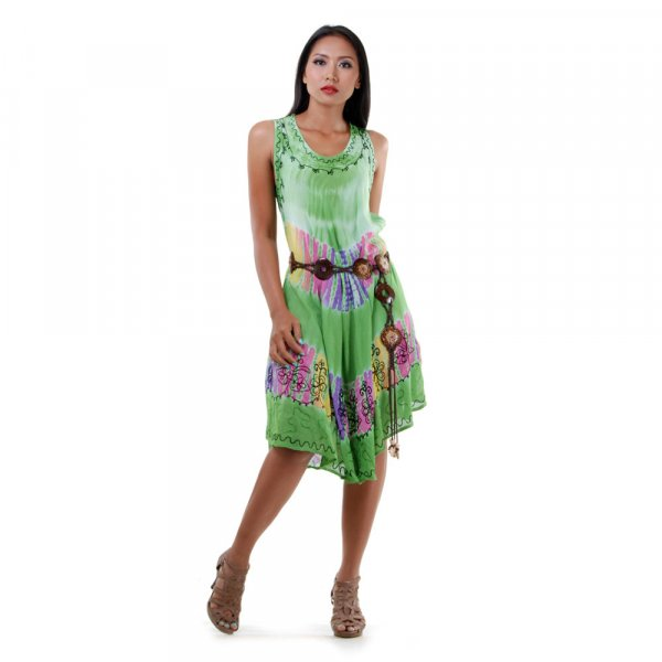 Hippie Batik Kleid Grün | Princess of Asia | Mode & Fashion aus Asien