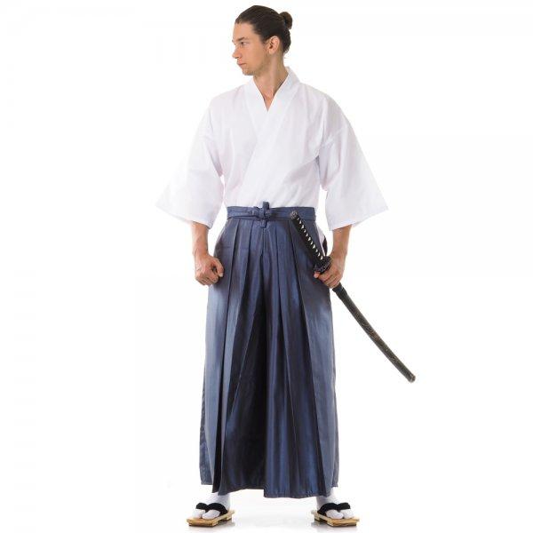 Kendo Gi & Hakama Set Blaugrau Weiß