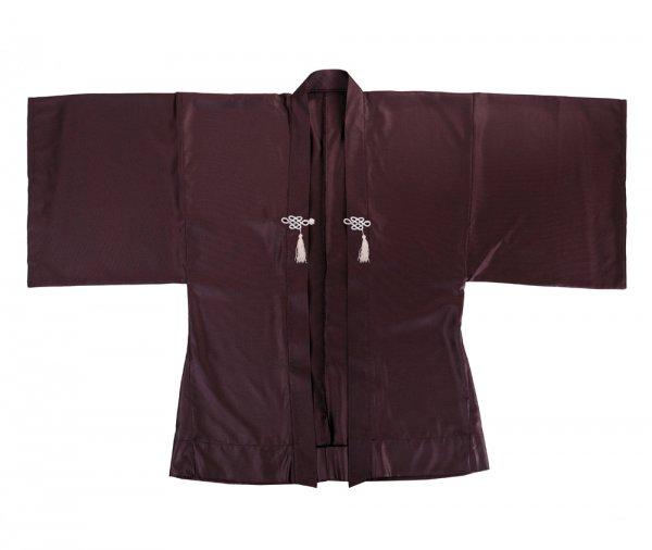 Haori Satin Kimono Jacke Weinrot