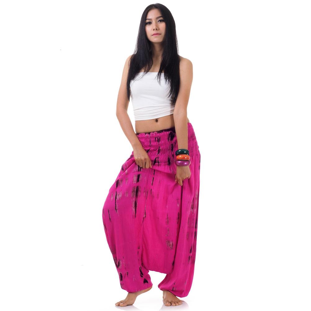 batik pumphose haremshose pink princess of asia mode fashion aus asien. Black Bedroom Furniture Sets. Home Design Ideas