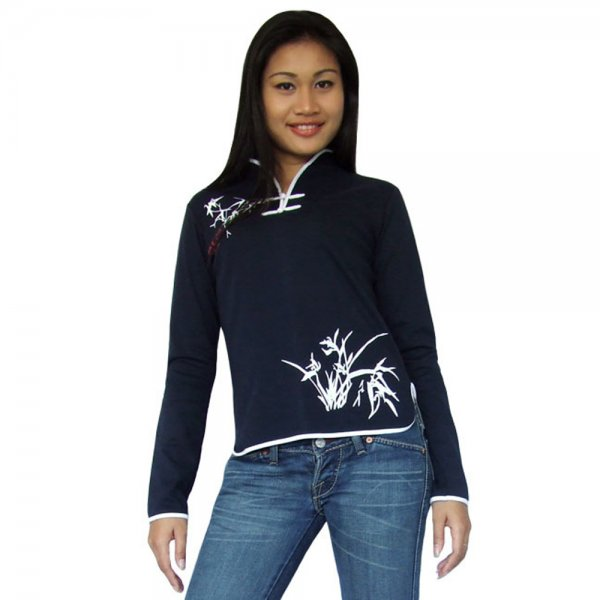 Asia Tai Chi Yoga Shirt Blau
