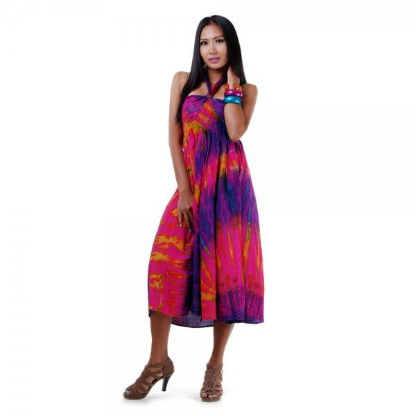 2 in 1 Hippie Kleid Lila
