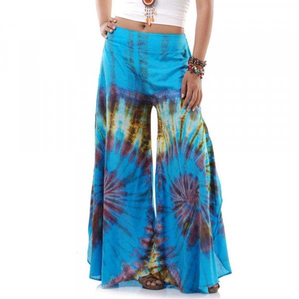 Weite Hippie Schlaghose Hellblau