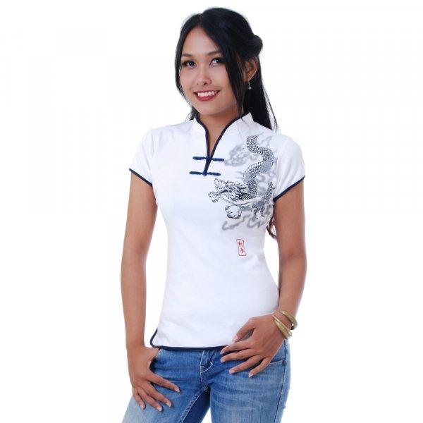 Asia Tai Chi Yoga Shirt Weiß