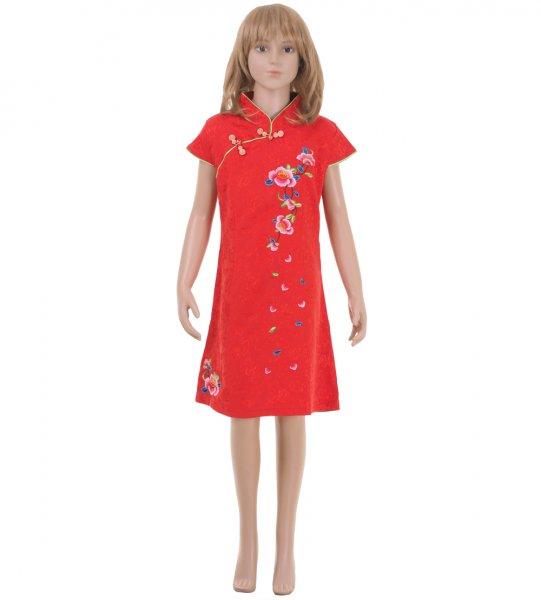 China Qipao Asia Kleid Rot
