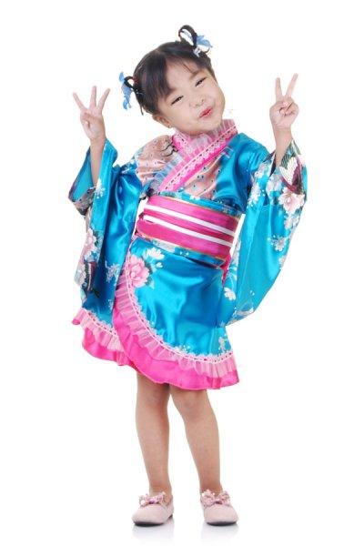 Mädchen Geisha Kimono Kostüm