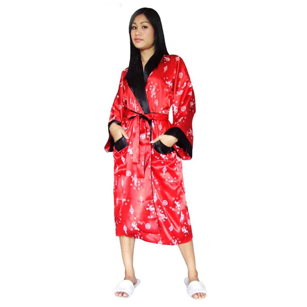 39a1df45b3 Damen Satin Kimono Morgenmantel Rot | Princess of Asia | Mode ...