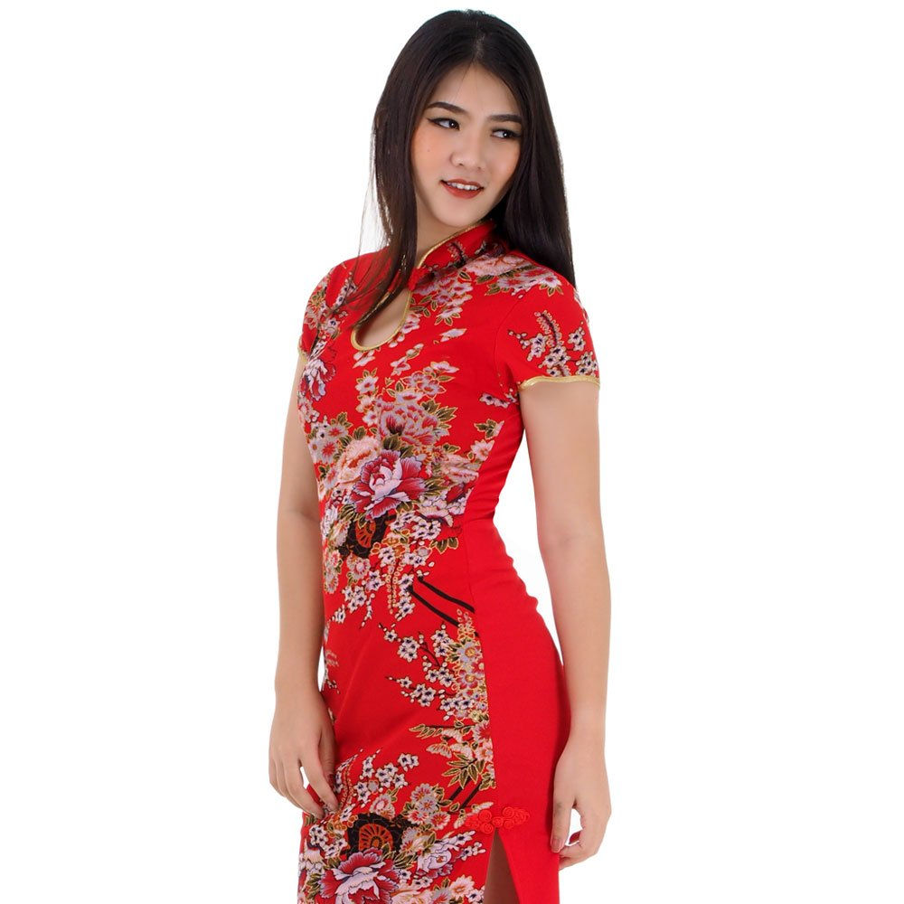 Langes Asia Qipao China Kleid Rot | Princess of Asia ...