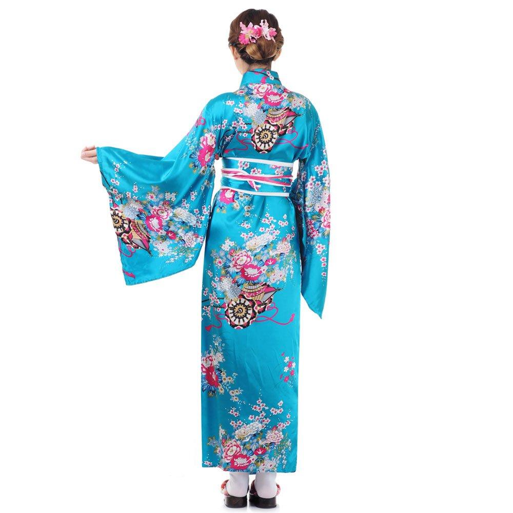4bd3aa32713f99 Japan Yukata Geisha Kimono Türkis | Princess of Asia | Mode ...