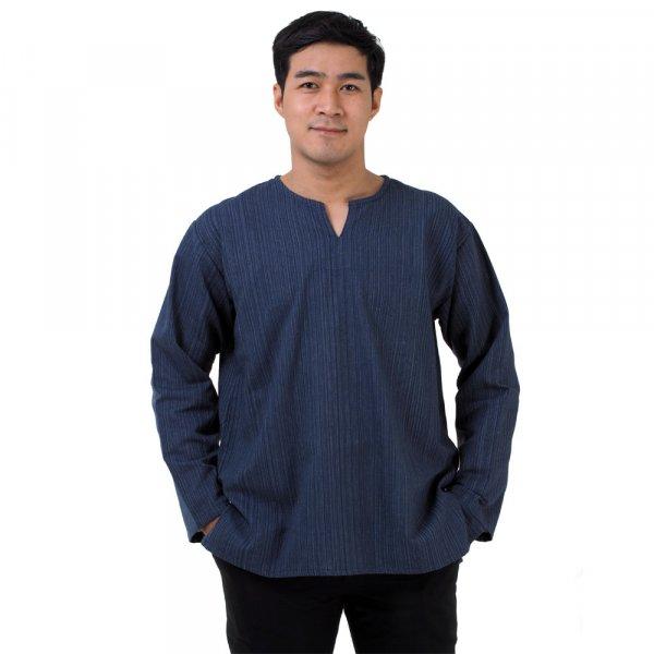 Thai Herren Fisherman Hemd mit Nadelstreifen