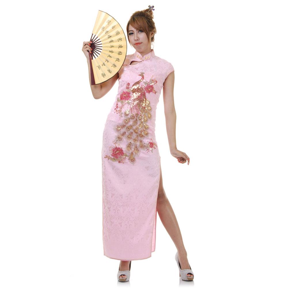 Langes China Qipao Asia Kleid Rosa | Princess of Asia ...