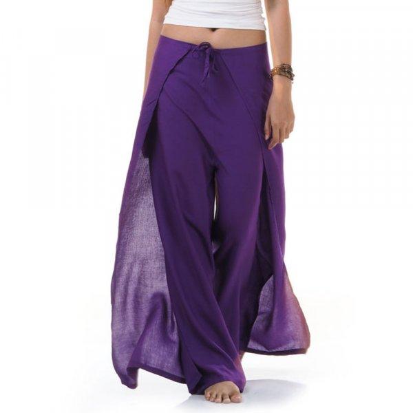 Thai Wickelhose Hosenrock Violett