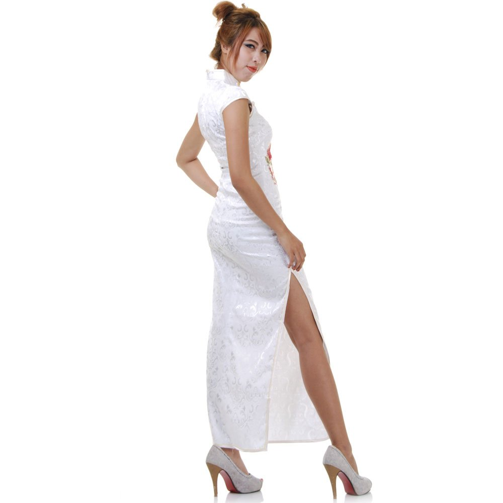 super popular 9123f 34d6e Langes China Qipao Asia Kleid Weiß