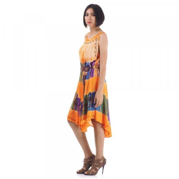 Hippie Batik Kleid Orange