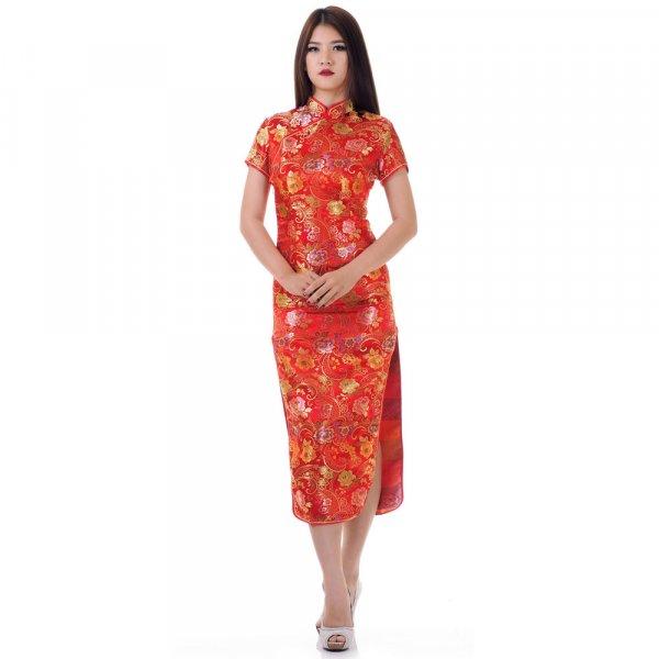 China Qipao Blumen Kleid