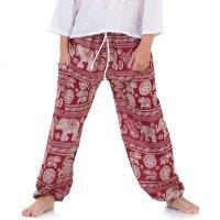 Kinder Jungen Aladinhose Haremshose Thailändischer Elefant Rot 1