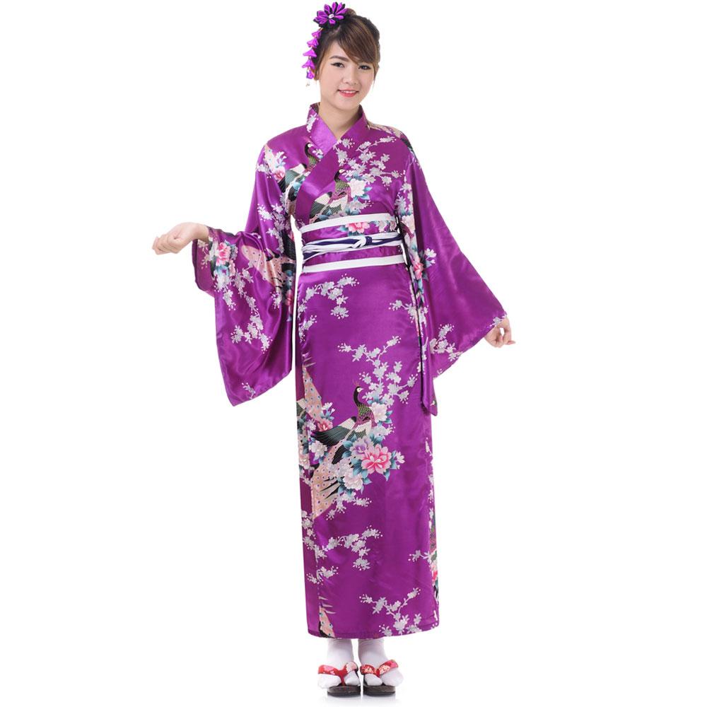 Japan Yukata Geisha Kimono Lila | Princess of Asia | Mode u0026 Fashion aus Asien