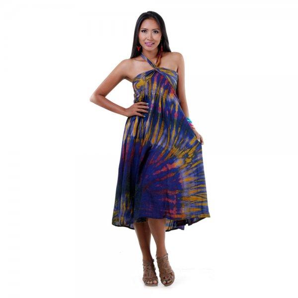 2 in 1 Hippie Kleid Blau
