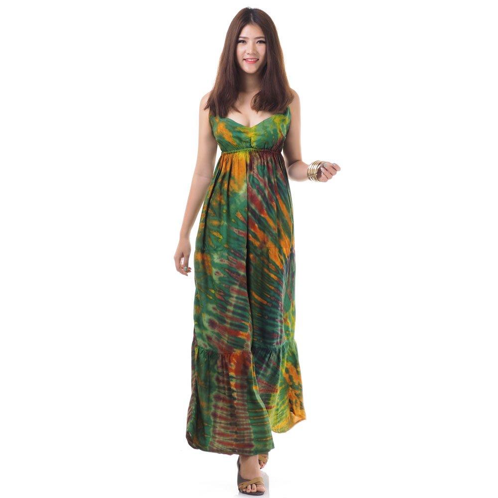 Hippie Maxi Kleid Grün Princess Of Asia Mode Fashion Aus Asien
