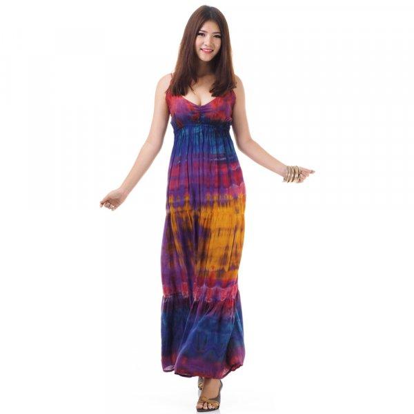 Hippie Maxi Kleid Lila