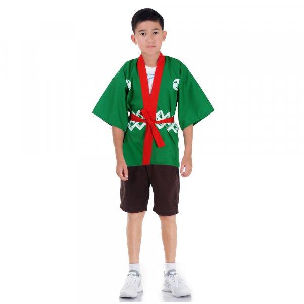 Kinder Happi Kimono Jacke Grün HAP-K1-1.jpg