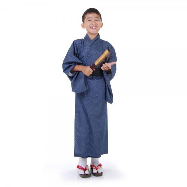 Jungen Japaner Kimono Kostüm Blau
