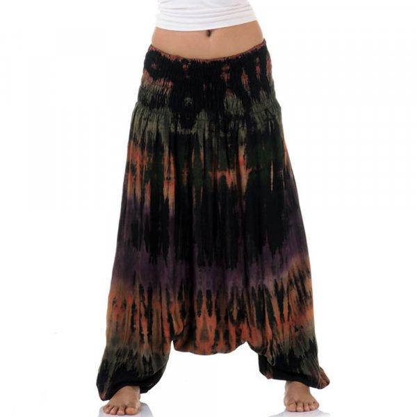 Thai Haremshose Batik Pumphose Stripes Schwarz FA120-9.jpg
