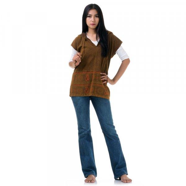Damen Hippie Shirt mit Aztekenmuster
