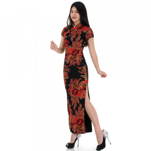 Langes Asia Qipao China Kleid