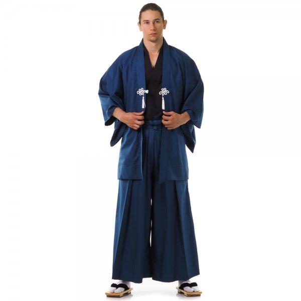 Japan Samurai Kimono Set Blau Schwarz