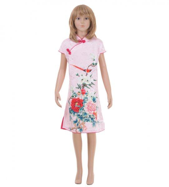 China Qipao Asia Kleid Rosa