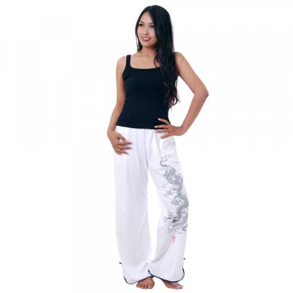 Asia Tai Chi Yoga Hose Weiß