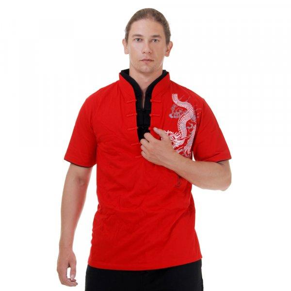 China Kung Fu Shirt Tianlong Rot 1