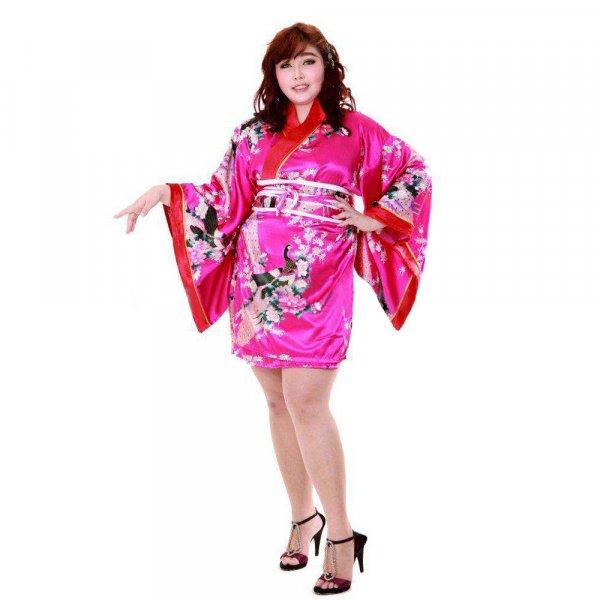 Japan Kimono Minikleid Pink