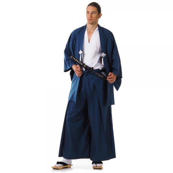 Japan Samurai Kimono Set Weiß Schwarz