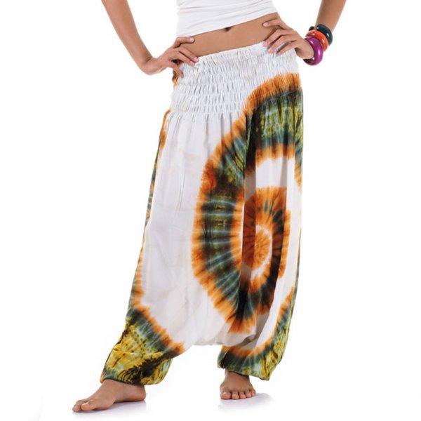 Batik Haremshose Spiral Weiß 1