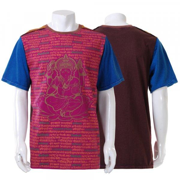 Herren Patchwork Ganesha Shirt